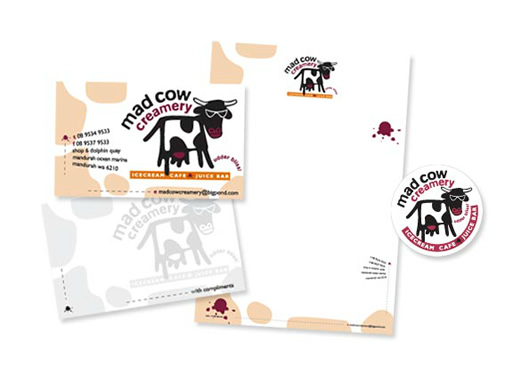 Mad Cow Creamery Branded Stationery