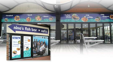 Nino's Fish Bar Signage