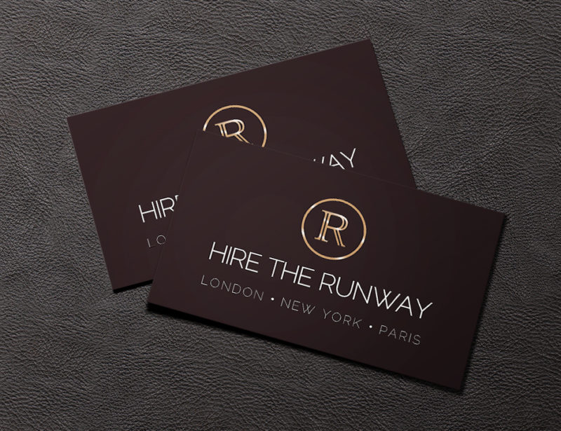 Hire the runway business card