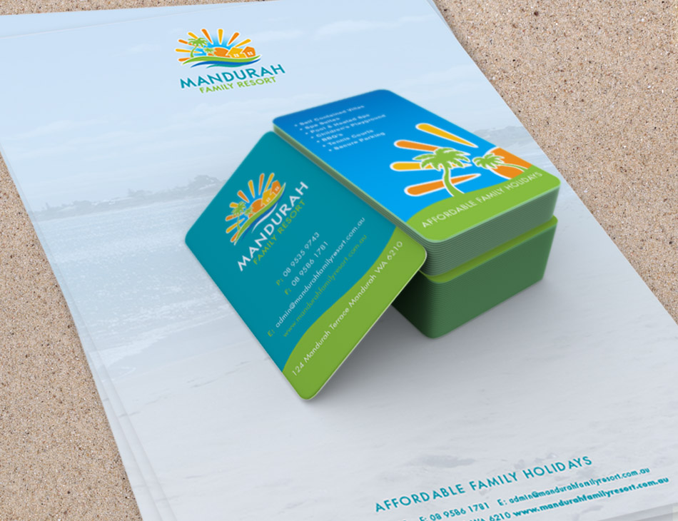 Mand Family Resort Business Card Stationary letterhead