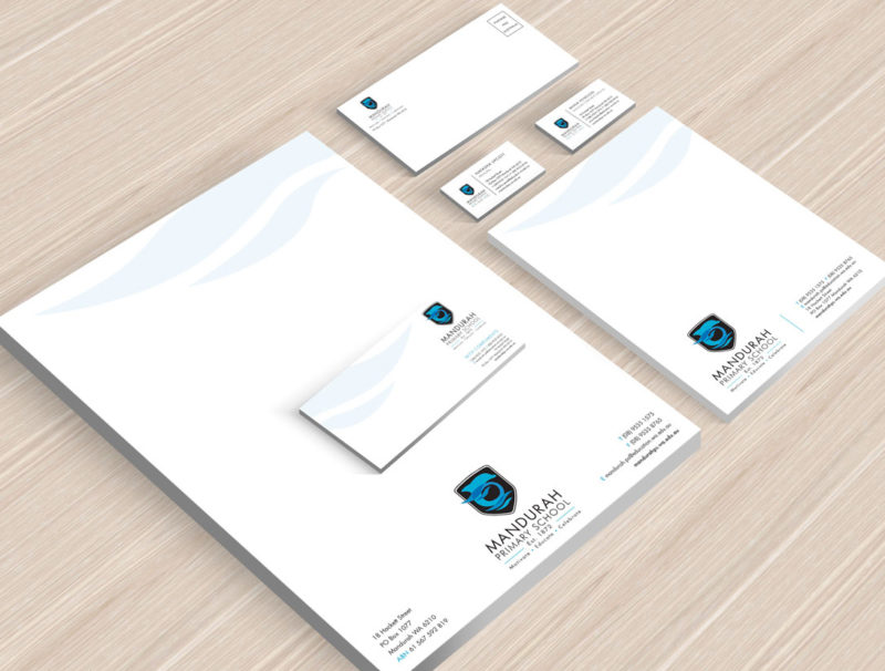 Mandurah Primary School Stationery Mockup