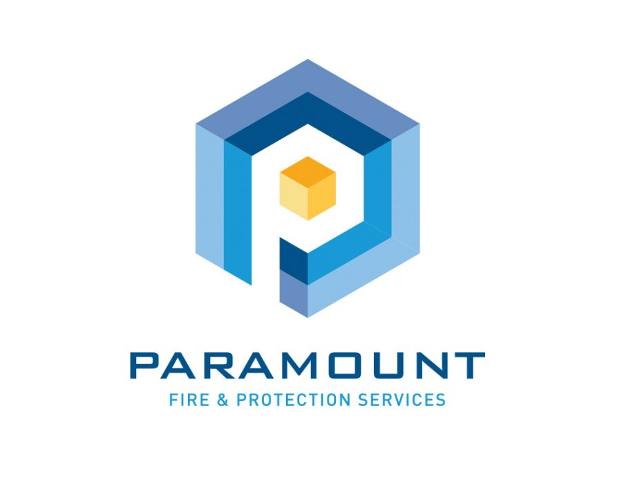 Paramount Fire protection logo design rockingham