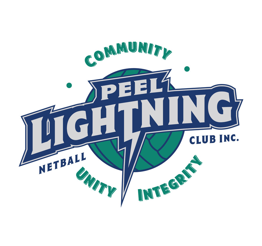 Peel Lightning Netball Club Logo