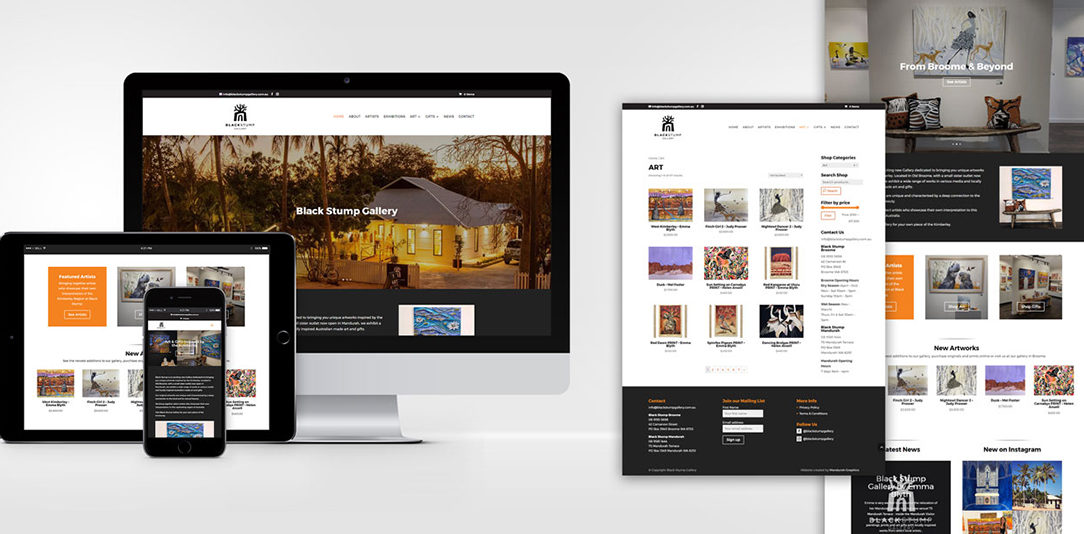 black stump art gallery website design