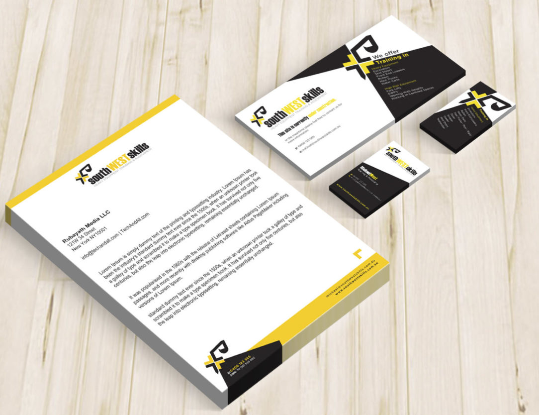 outh West Skills Branded Stationery