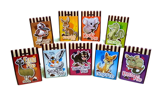 Aussie Poo Animal Range Packaging