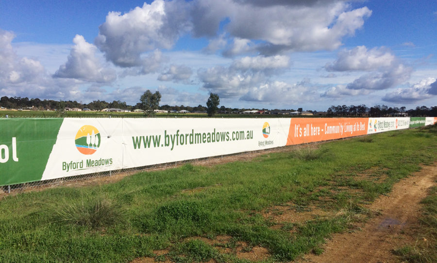 byford meadows fence banner signage