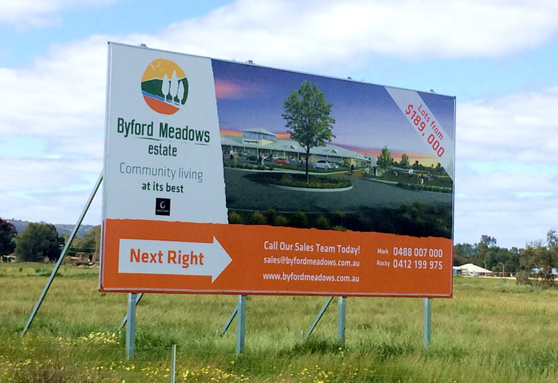 Byford Meadows Estate 8x4 Billboard Signage