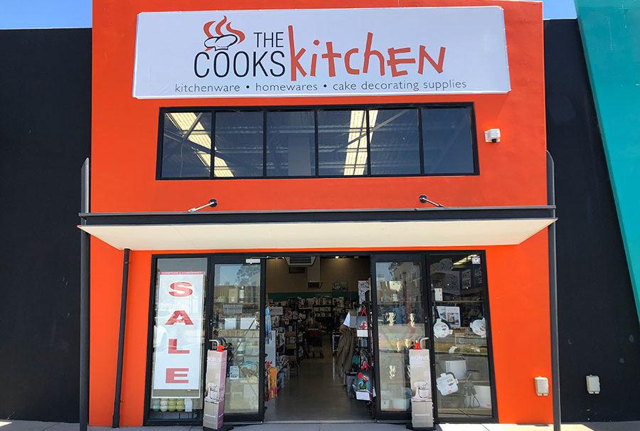 The Cooks Kitchen storefront facade signage
