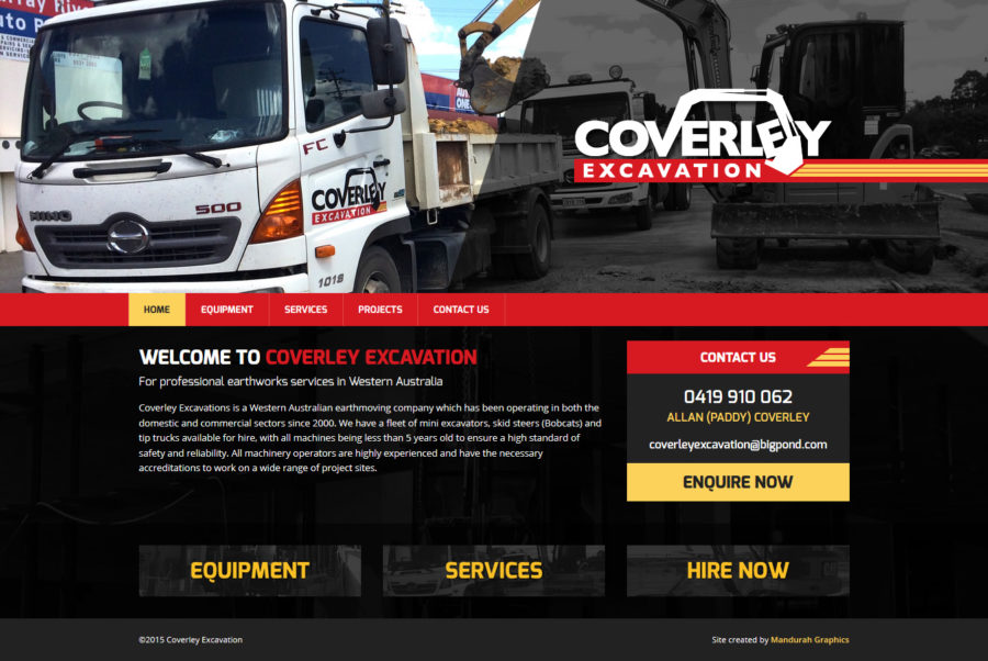 Coverley Excavation Website