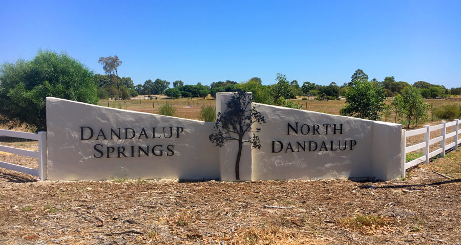 dandalup springs laser cut metal sign