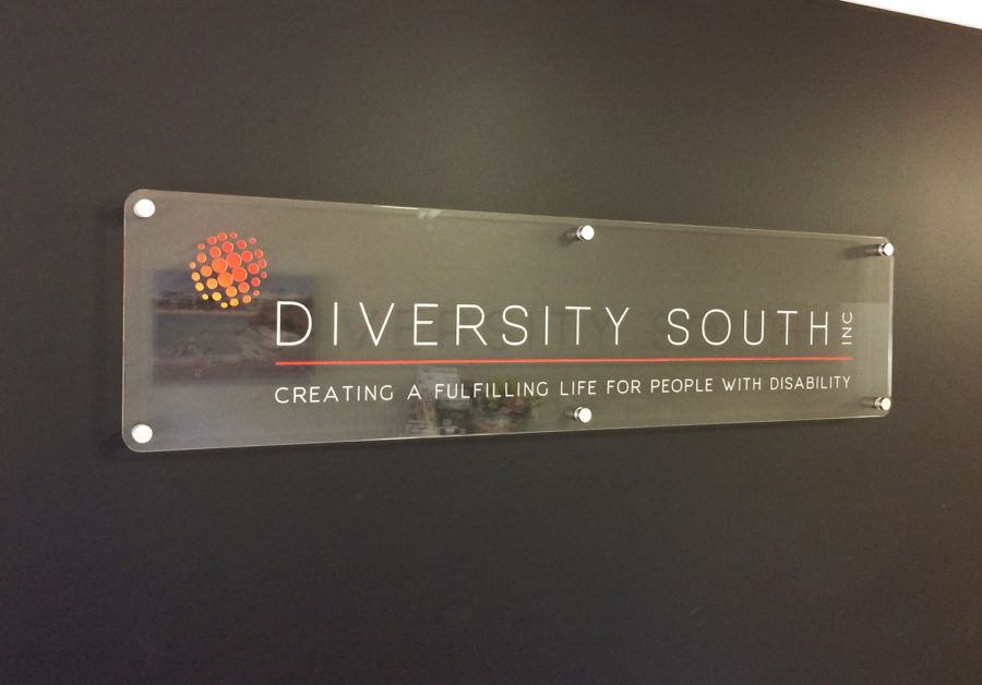 diversity south reception sign