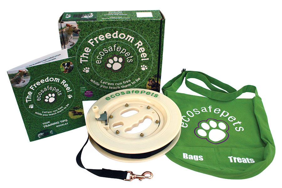 eco safe pets freedom reel product packaging design