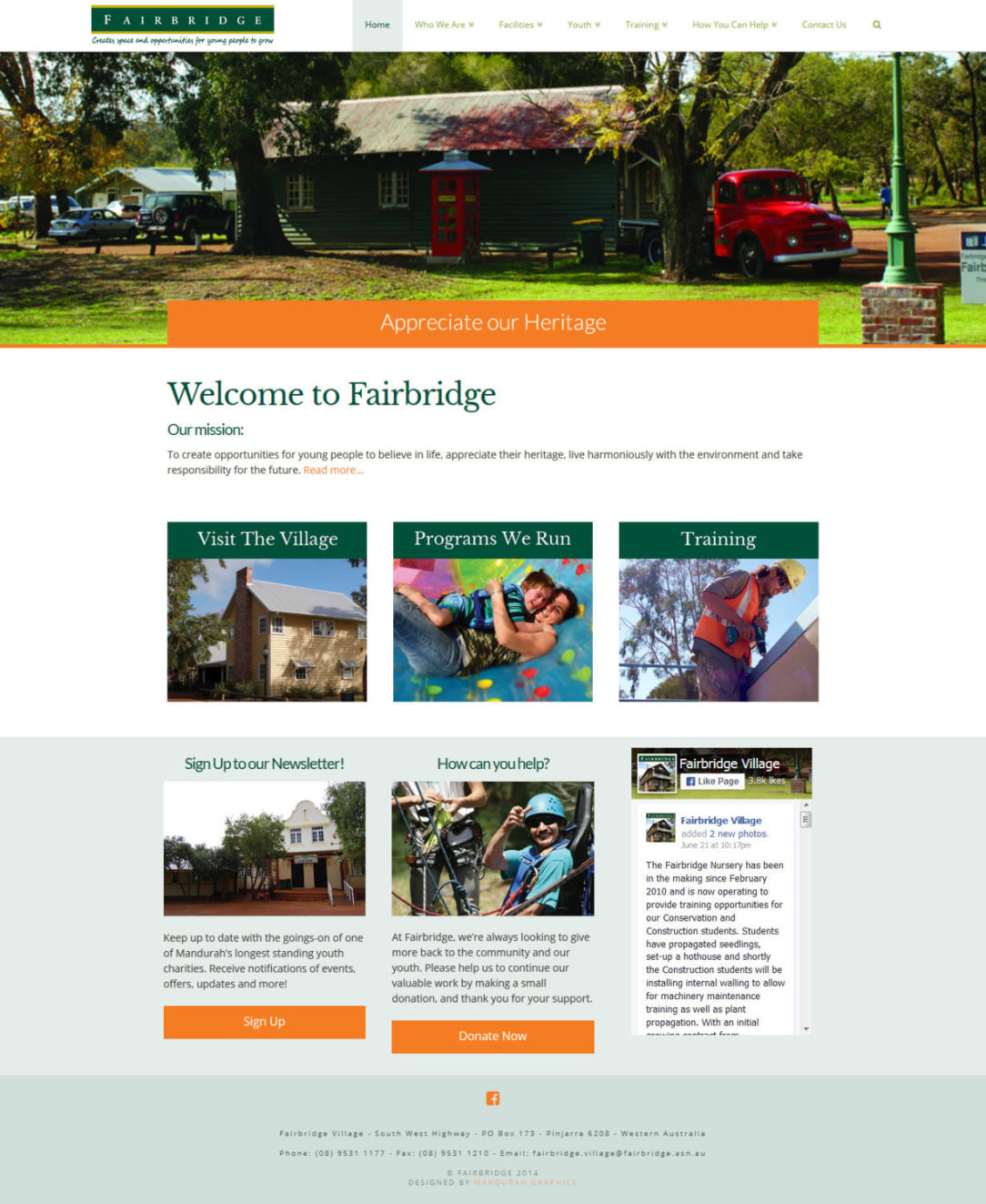 Fairbridge Youth Charity Website