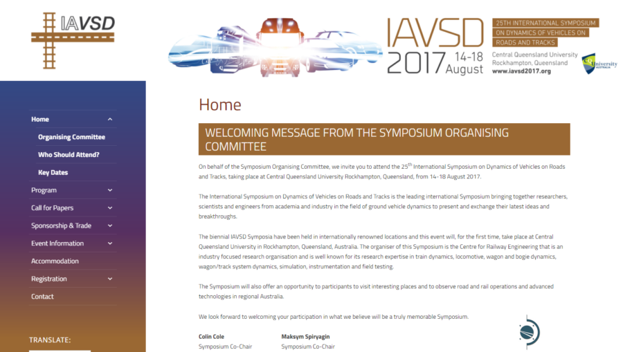IAVSD conference 2017 website