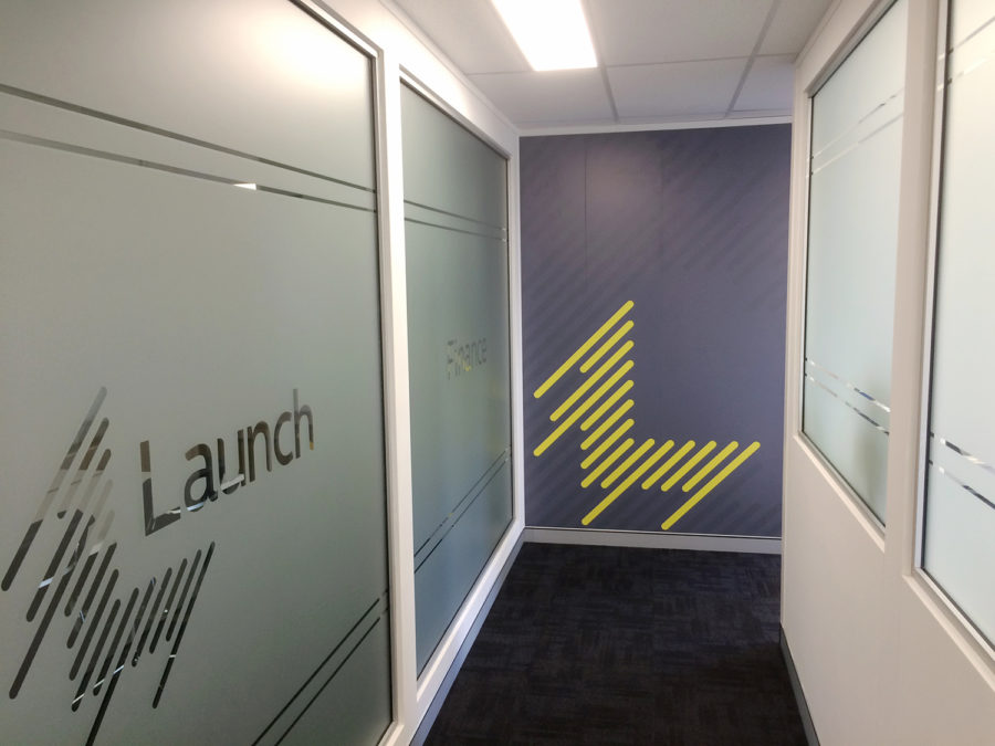 launch finance frosted windows and wallpaper