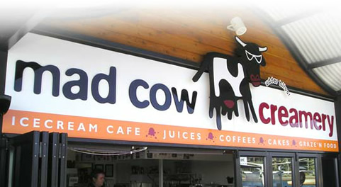 Mad Cow Creamery Signage