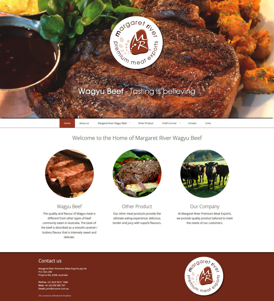 Margaret River Premium Meat Exports Website