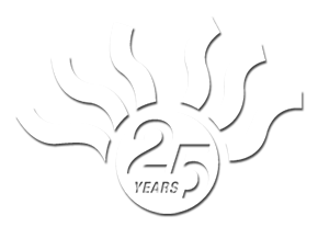 mandurah graphics 25 years logo