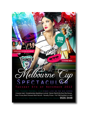 Peel Thunder Football Club Melbourne Cup Poster