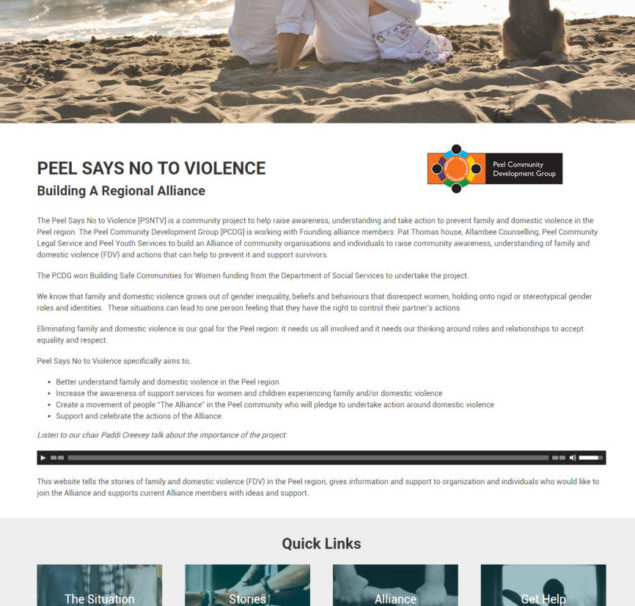 Peel says no to violence website