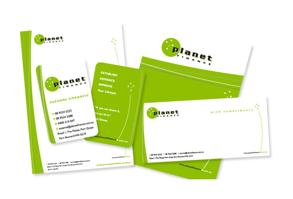 Planet Finance Branded Stationery