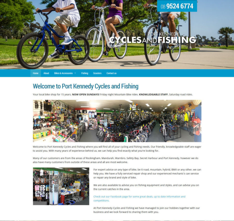 Port Kennedy Cycles and Fishing Website