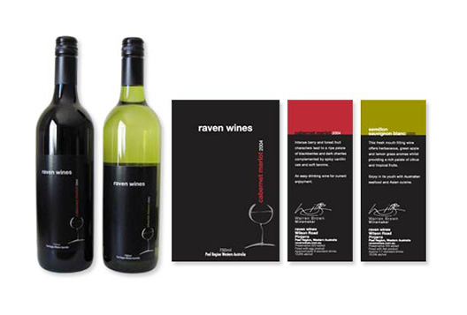 Raven Wines Packaging