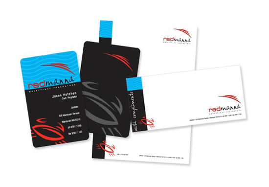 Redmanna Waterfront Restaurant Branded Stationery