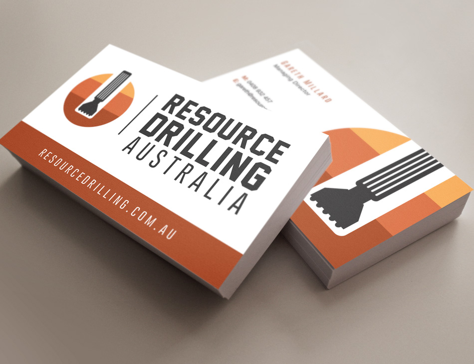 resource drilling business card