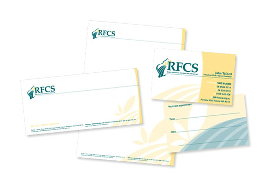 Rural Financial Counselling Service WA Branded Stationery