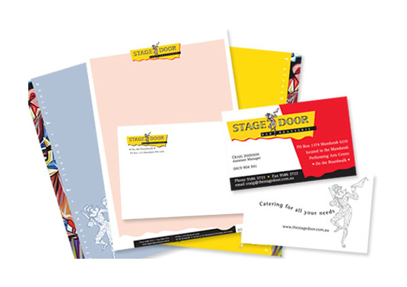 The Stage Door Bar and Brasserie Branded Stationery