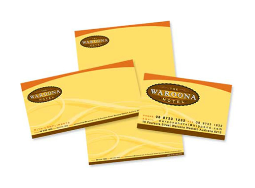 The Waroona Hotel Branded Stationery